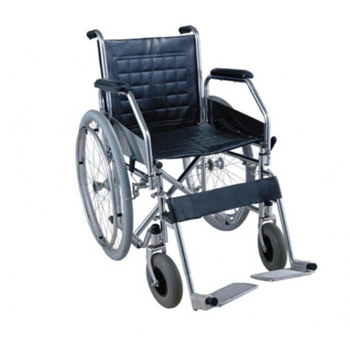 Chrome-Plated Wheelchair with Pneumatic Tire