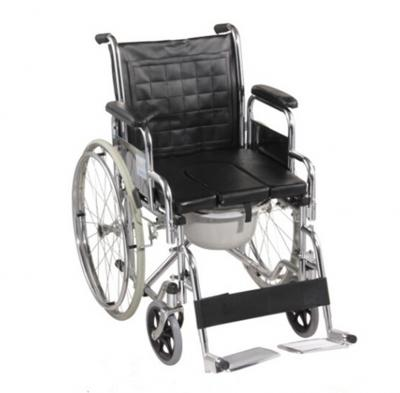 Chrome-Plated Commode Wheelchairs