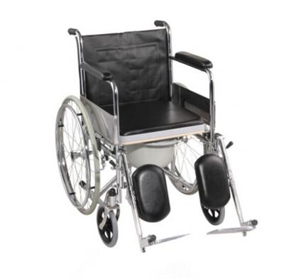 Chrome-plated Commode Wheelchair