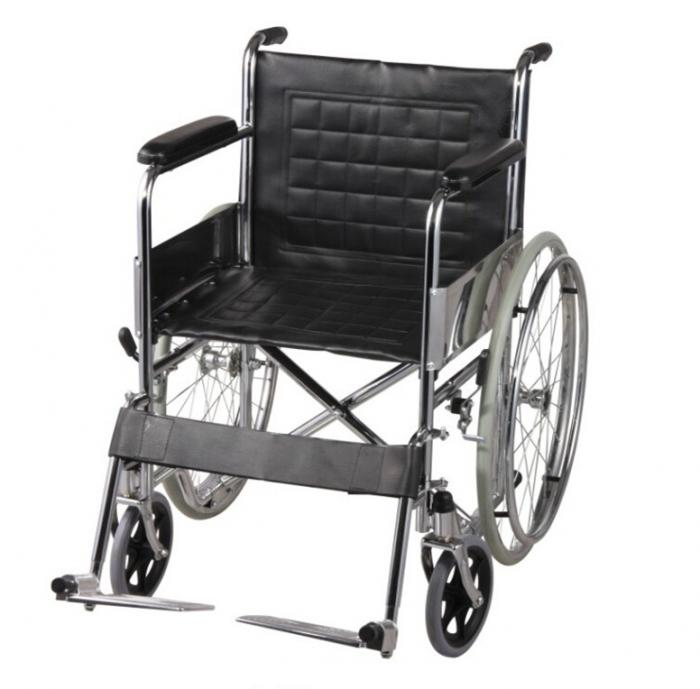 Single Axle Solid Tire Folding Steel Standard Wheelchairs