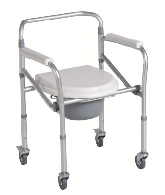 Aluminum Commode Chair with Castor